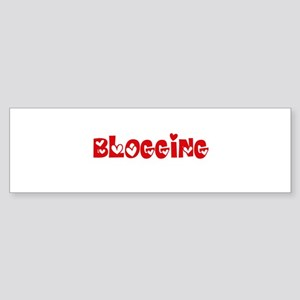 Blogging Heart Design Bumper Sticker