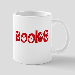 Books Heart Design Mugs