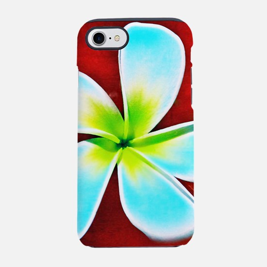 Flower Tropical Red White Tu iPhone 8/7 Tough Case