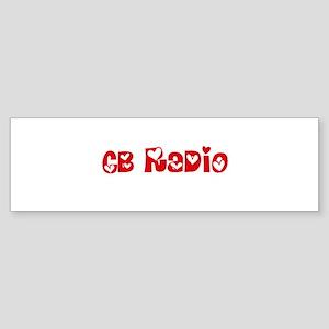 Cb Radio Heart Design Bumper Sticker
