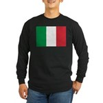 Italian Flag Long Sleeve Dark T-Shirt