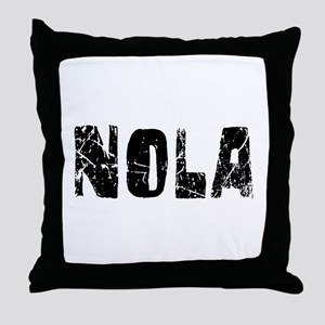 Nola Faded (Black) Throw Pillow