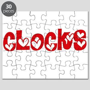 Clocks Heart Design Puzzle