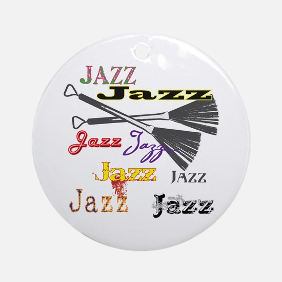 Jazz Brushes Ornament (Round)