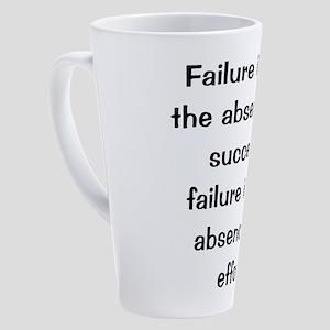 motivational saying 17 oz Latte Mug
