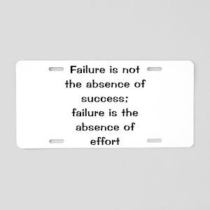 motivational saying Aluminum License Plate