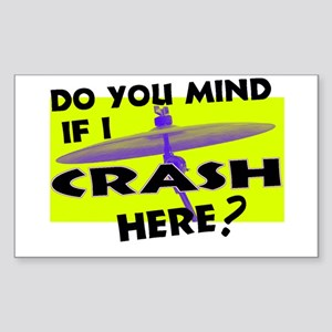 Crash Here? Rectangle Sticker 10 pk)