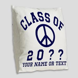 Class of 20?? Burlap Throw Pillow