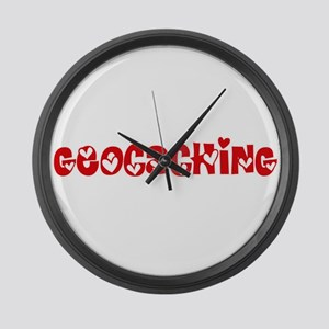 Geocaching Heart Design Large Wall Clock