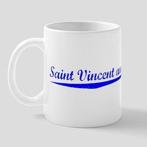 Vintage Saint Vinc.. (Blue) Mug