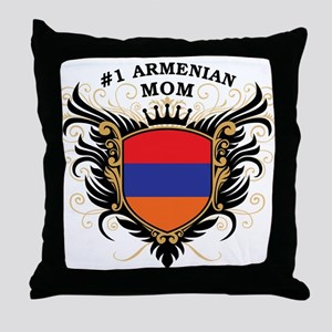 Number One Armenian Mom Throw Pillow