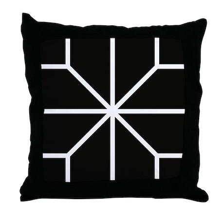 Graphical Design Black & White Throw Pillow