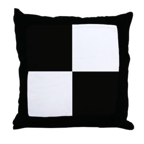 Black & white blocks throw pillow