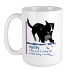 Have Fun in Agility Large Mug