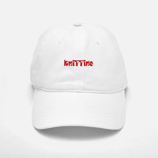 Knitting Heart Design Baseball Baseball Cap