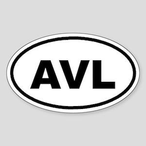 AVL Asheville, NC Euro Oval Sticker