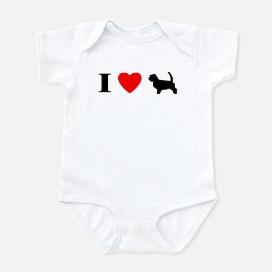I Heart PBGV Baby Bodysuit
