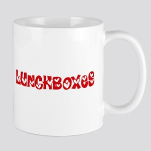 Lunchboxes Heart Design Mugs
