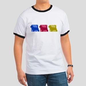 Color Row PBGV Ringer T