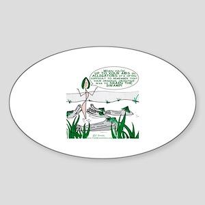 Alligators-Gal Oval Sticker