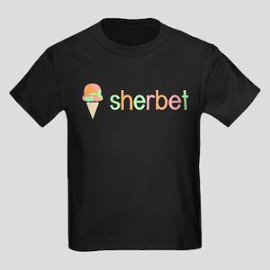 Ice Cream Flavors: Sherbet Kids Dark T-Shirt