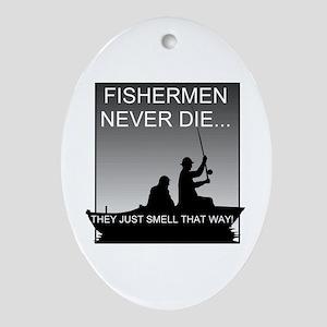 Fishing! Keepsake (Oval)