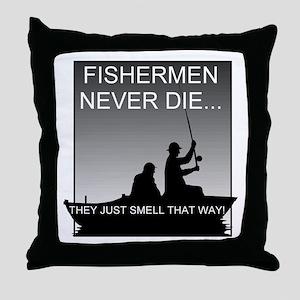Fishing! Throw Pillow