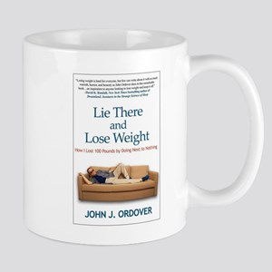 Lie There and Lose Weight Hardcover Front Mugs