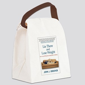 Lie There and Lose Weight Hardcov Canvas Lunch Bag