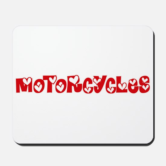Motorcycles Heart Design Mousepad