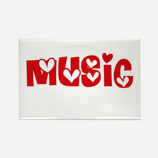 Music Heart Design Magnets
