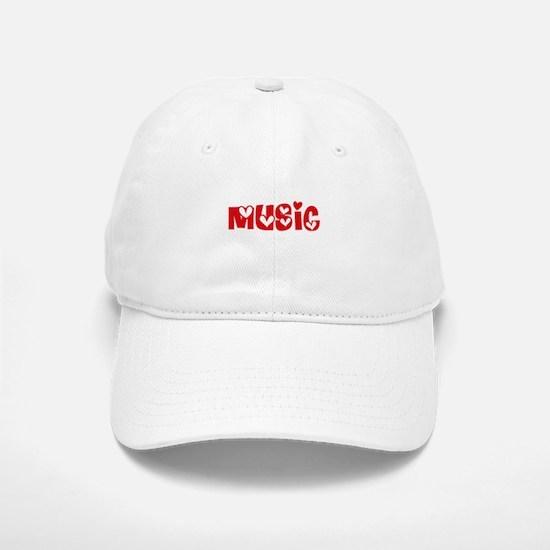 Music Heart Design Baseball Baseball Cap