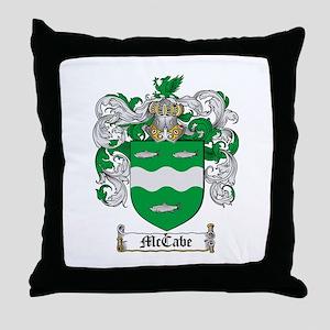 McCabe Family Crest Throw Pillow