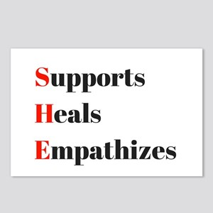 SHE: Supports, Heals, Emp Postcards (Package of 8)
