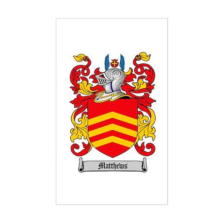 Matthews Family Crest Rectangle Sticker