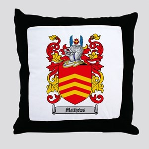 Matthews Family Crest Throw Pillow
