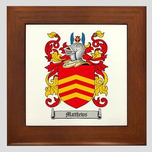Matthews Family Crest Framed Tile