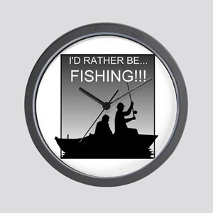 I'd Rather Be Fishing!!! Wall Clock