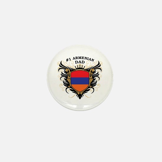 Number One Armenian Dad Mini Button