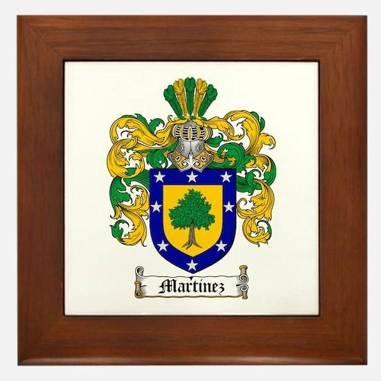 Martinez Family Crest Framed Tile
