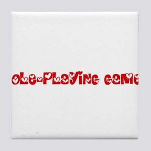 Role-Playing Games Heart Design Tile Coaster