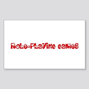 Role-Playing Games Heart Design Sticker