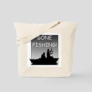 Gone Fishing! Design Tote Bag