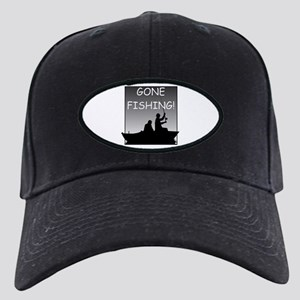 Gone Fishing! Design Black Cap