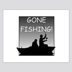 Gone Fishing! Design Small Poster