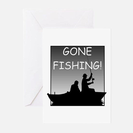 Gone Fishing! Design Greeting Cards (Pk of 10)