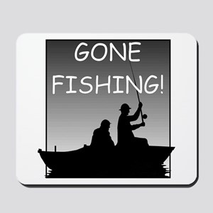 Gone Fishing! Design Mousepad