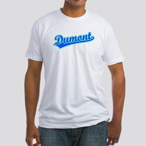 Retro Dumont (Blue) Fitted T-Shirt