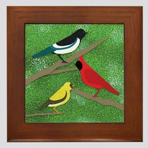 """""""Sunday In The Park With Birds"""" Pillow F"""