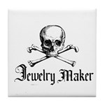 Jewelry Maker - Crafty Pirate Tile Coaster